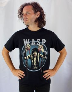 W.A.S.P. Vintage Concert T Shirt Heavy Metal Blackie Lawless 80's Rock N Roll Unisex Medium Black