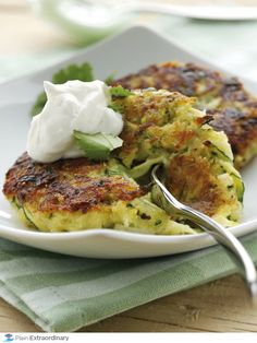 Zucchini Fritters with FAGE Total