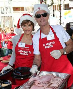 #LisaRinna and husband #HarryHamlin attend the Christmas Eve Celebration at the #LosAngelesMission on Dec 24, 2013 #charity