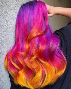 Hair Colour Design, Bold Hair Color, Hot Hair Colors, Bright Hair, Pastel Hair, Blonde Color, Purple Hair, Colorful Hair, Summer Hairstyles
