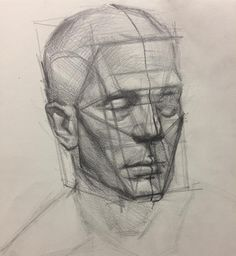 """3,418 Likes, 19 Comments - Evan Kitson (@evan_kitson) on Instagram: """"Portrait structure demo from my New York Academy of Art sat morning CE class today. Always fun to…"""""""