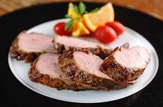 Pork Tenderloins With Fig, Caramelized Onion and Orange Glaze