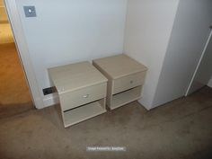 Lot 1131 - A pair of maple to drawer nightstands 450mm x 460mm x 510mm