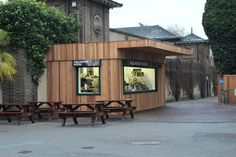 Maybe you've eaten from one of our latest Food Cube installations, a concession at London Zoo. Catering Equipment, Cubes, Around The Worlds, Patio, London, Outdoor Decor, Food, Terrace, Porch