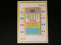 Lass es heute richtig krachen -Geburtstagskarte von Kreatives Herzerl auf DaWanda.com