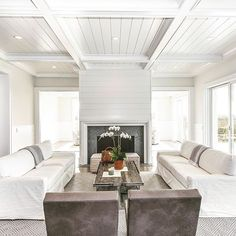 No detail overlooked in the making of this crisp white living room #Bridgehampton #hamptonsstyle