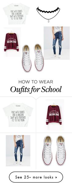 """""""School"""" by liz708 on Polyvore featuring Cheap Monday and Converse"""
