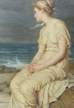 John William Waterhouse - Miranda The tempest - Detail
