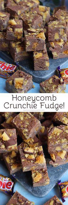 carton Crunchie Recipes, Fudge Recipes, My Recipes, Baking Recipes, Cookie Recipes, Recipies, Tray Bake Recipes, Sweets Recipes, Desserts