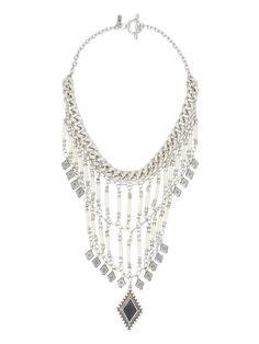 The Midnight Silver Statement Necklace-Vanessa Mooney
