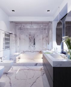 lieben-sie-den-marmor-im-badezimmer-marble-bathroom delivers online tools that help you to stay in control of your personal information and protect your online privacy. Dream Bathrooms, Beautiful Bathrooms, Small Bathroom, Bathroom Ideas, Target Bathroom, 1920s Bathroom, Glamorous Bathroom, Tile Bathrooms, Bathroom Black
