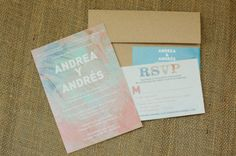 watercolor inspired invitations  Photography by http://richelledante.com