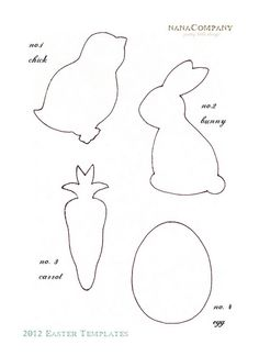 easter templates by nanaCompany, via Flickr