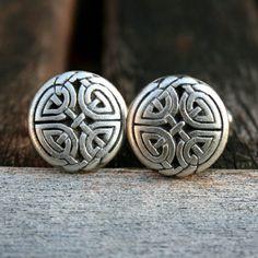 Cufflinks - Celtic Eternal Knot, Antique Silver Finish on Etsy, $19.00