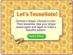 Tangrams and Tesselations - Interactive Learning Sites for Education Learning Sites, Teaching Tips, Teaching Math, Kids Learning, Math For Kids, Fun Math, Maths, Math Helper, Real Life Math