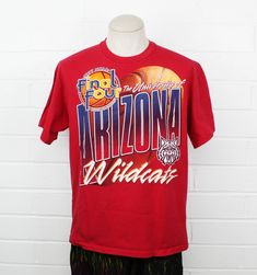 983ab1b30 Vintage 90s University of Arizona Final Four Shirt 1997 Champions U of A  Wildcats Bear Down Mens Basketball Graphic Tee Large T-Shirt