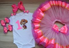 Pink Paw Patrol Skye Birthday Tutu Outfit for girl, Skye Tutu Dress Party Paw Patrol Birthday Outfit, Skye birthday tutu set Paw Patrol Birthday Girl, Baby Girl 1st Birthday, 1st Birthday Outfits, Minnie Birthday, Birthday Tutu, Tutu Outfits, Girl Outfits, Different Shades Of Pink, Face Light