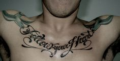follow your heart; love the font.