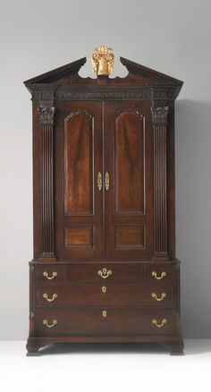 A George II mahogany linen press in the manner of Gillows circa 1760 | Lot | Sotheby's