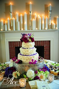 Incredible floral cake served in #cedarwoodweddings parlor.  Simply gorg!