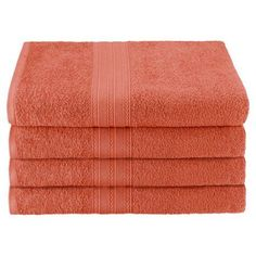 Simple Luxury Superior Bath Towel (Set of 4), Orange