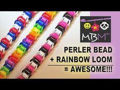 Perler Beads + Rainbow Loom = Awesome NEW Bracelet! - YouTube