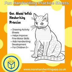 Pencil Drawing Activity Sheets that help improve fine motor skills and handwriting.  We have three types: letter formation, joins and neatness.  Also, new sheets for preschoolers aged 3-5 now available. Handwriting App, Handwriting Practice Sheets, Dyslexia Strategies, Drawing Activities, Letter Formation, Activity Sheets, Drawing Practice, Age 3, Fine Motor Skills