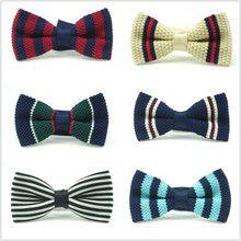 Korean men's knitted bow tie