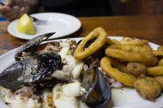 Fresh seafood tapas - Barcelona