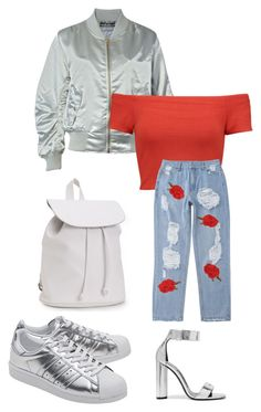 """""""Bomber jacket"""" by kamilazborovjanova on Polyvore featuring Pilot, Alice + Olivia, adidas Originals, Tom Ford, Aéropostale, Silver, fashionable, women, fashiontrend and fashionset"""
