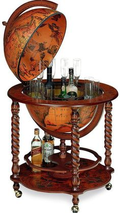 Raleigh Globe BarThe Raleigh Globe Bar is our most popular drinks globe and has a Century replica antique globe ball. This globe drinks cabinet can store up to 4 bottles and 12 glasses. Globe Drinks Cabinet, Drinks Globe, Küchen Design, House Design, Classic Bar, Vintage Globe, Cigar Room, Man Room, Interiores Design