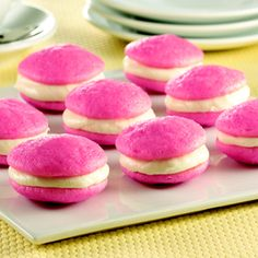 Pink Velvet Whoopie Pies: 10 minutes and done ? Whaaaat ! Making these this Summer..possibly my next day off...you never know !!
