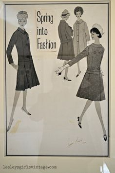 Lesley's Girls- Vintage Lifestyle and Fashion Blog: Sonya Todd Exhibition: 1960s Fashion Illustrations