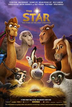 Directed by Timothy Reckart. With Steven Yeun, Keegan-Michael Key, Aidy Bryant, Gina Rodriguez. A small but brave donkey and his animal friends become the unsung heroes of the first Christmas. Kids Christmas Movies, A Christmas Story, First Christmas, Good Christian Movies, Faith Based Movies, Michael Key, Steven Yeun, Movie Website, Gina Rodriguez