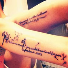 Beautiful Tattoo in honor of a lost love one.