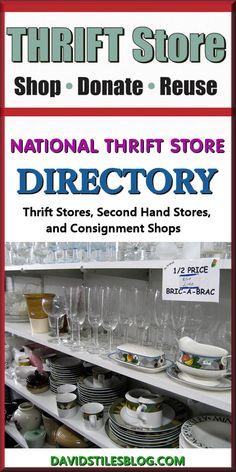 NATIONAL THRIFT STORE DIRECTORY. From: DavidStilesBlog.com