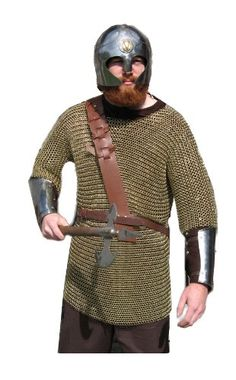Brass Chainmail Shirt, Chain Mail Armor