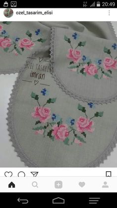 Baby Knitting Patterns, Diy And Crafts, Cross Stitch, Floral, Crochet Batwing Tops, Cross Stitch Embroidery, Sewing Stitches, Hand Embroidery, Bathroom Sets