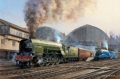 Fine art railway prints and greeting cards for sale by artist Rob Rowland GRA Transport Pictures, Steam Art, Nostalgic Art, Henri Rousseau, Steam Railway, Train Art, British Rail, Train Pictures, Canal Boat