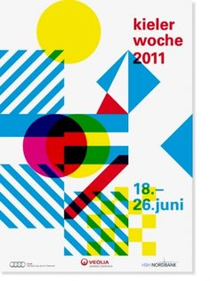 One of my favorite studios. Kieler Woche by HORT - One of my favorite studios. Kieler Woche by HORT One of my favorite studios. Kieler Woche by HORT Graphic Design Layouts, Graphic Design Posters, Graphic Design Typography, Graphic Design Inspiration, Poster Designs, Geometric Graphic Design, Geometric Shapes, Layout Design, Mises En Page Design Graphique