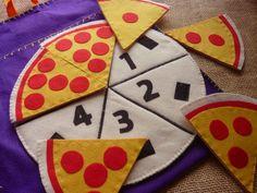 Pizza de Feltro - Números e Frações                                                                                                                                                     Mais