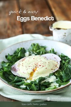 Quick & Easy Eggs Benedict (low-carb, keto, paleo)