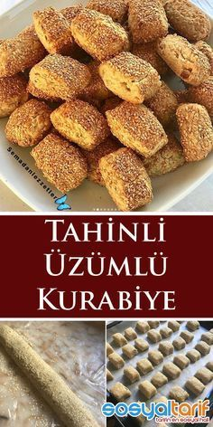 Tahinli üzümlü kurabiye – Kurabiye – The Most Practical and Easy Recipes Pastry Recipes, Cookie Recipes, Snack Recipes, Turkish Flat Bread, Breakfast Items, Pastry Cake, Turkish Recipes, Snacks, Desert Recipes