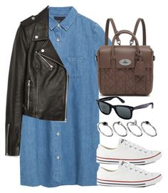 """""""Style #9385"""" by vany-alvarado ❤ liked on Polyvore featuring Zara, Mulberry, Converse, Ray-Ban and ASOS Curve"""