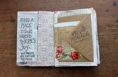 Sewn Journaling Pages Part II - besottment by paper relics