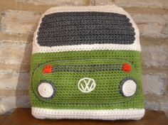 Looking for your next project? You're going to love Crocheted Bay Campervan Cushion by designer SnuginaDub.