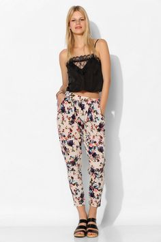 Pins And Needles Textured Knit Floral Pant #UrbanOutfitters