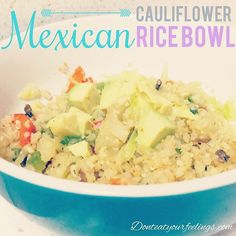 Have you tried this yet? Ok ok so it's not exactly the same as rice. It's not as good...but it's not bad at all if you need to get some more veggies in your diet, and you like rice...A LOT like I do. Cauliflower rice is a good substitute. I mixed it with peppers, onions, cabbage, mushrooms, garlic, Flavor God chipotle seasoning and topped with avocado. Close as you can get to a Mexican rice bowl filled with all veggies!