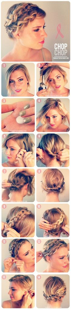 GirlsGuideTo | 5 Summer Braided Do's for Short Hair | GirlsGuideTo