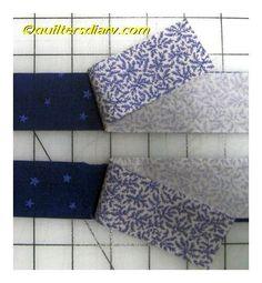 Strip Piece Four-Patch Quilt Blocks